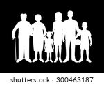big happy family. father ...   Shutterstock .eps vector #300463187