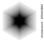 halftone design elements  logo  ... | Shutterstock .eps vector #300463883