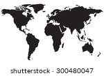 map isolated in black | Shutterstock .eps vector #300480047