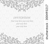 grey elegant invitation.... | Shutterstock .eps vector #300493217