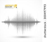 equalizer on a light background. | Shutterstock .eps vector #300497993