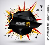 abstract triangle banner.... | Shutterstock .eps vector #300498083
