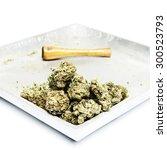 weed marijuana cannabis or pot  | Shutterstock . vector #300523793
