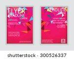 triangle brochure flyer design ... | Shutterstock .eps vector #300526337