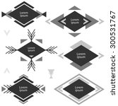 minimalistic monochrome... | Shutterstock .eps vector #300531767