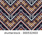 geometric ethnic pattern design ... | Shutterstock .eps vector #300532403