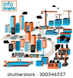 city of industrial and... | Shutterstock .eps vector #300546557