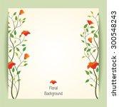 beautiful retro vector flower... | Shutterstock .eps vector #300548243