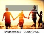copy space frame summer... | Shutterstock . vector #300548933