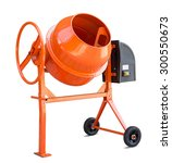 Concrete Mixer Isolated With...