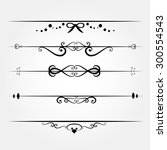 line for decor set made in... | Shutterstock .eps vector #300554543