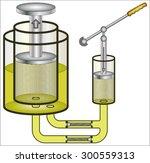 hydraulic press | Shutterstock .eps vector #300559313