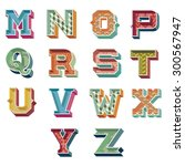 vintage alphabet   Shutterstock .eps vector #300567947