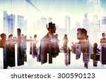 silhouette business people... | Shutterstock . vector #300590123