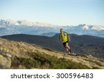 trail running with a lot of fun ... | Shutterstock . vector #300596483