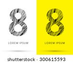 8  font   hair line  graphic... | Shutterstock .eps vector #300615593