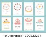 romantic vintage cards... | Shutterstock .eps vector #300623237