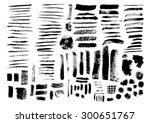 vector set of grunge texture... | Shutterstock .eps vector #300651767