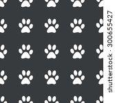 white image of paw print... | Shutterstock .eps vector #300655427