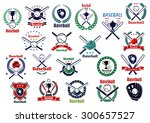 baseball game emblems and icons ... | Shutterstock .eps vector #300657527
