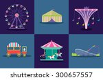 amusement park vector set....