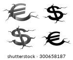dollar and euro money symbols... | Shutterstock .eps vector #300658187