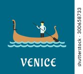 Venice Travel Concept With...