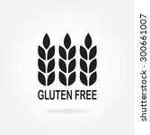 gluten free sign or label with... | Shutterstock .eps vector #300661007