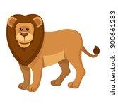 cute lion cartoon | Shutterstock .eps vector #300661283