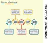 timeline infographics template. ... | Shutterstock .eps vector #300666503