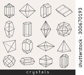 set of geometric crystals gem... | Shutterstock .eps vector #300670193