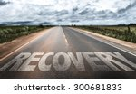 recovery written on the road | Shutterstock . vector #300681833