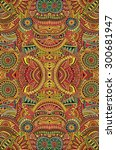abstract tribal ethnic... | Shutterstock . vector #300681947