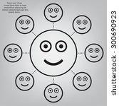 face sign icon  vector... | Shutterstock .eps vector #300690923