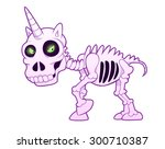resurrected evil skeleton of... | Shutterstock .eps vector #300710387