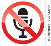 image of microphone  behind no...