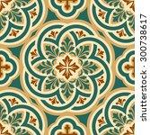 seamless pattern with byzantine ... | Shutterstock . vector #300738617