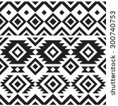 black and white geometry tribal ... | Shutterstock .eps vector #300740753