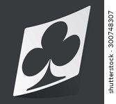 white sticker with black image...