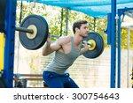male sports model exercising... | Shutterstock . vector #300754643
