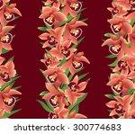 floral frame background. flower ... | Shutterstock . vector #300774683