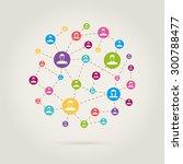 people link in social network   Shutterstock .eps vector #300788477