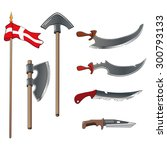 ancient weapons set | Shutterstock .eps vector #300793133