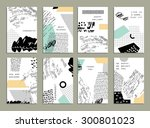 hand drawn collection of... | Shutterstock .eps vector #300801023