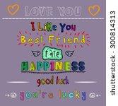 doodle love  happiness  best... | Shutterstock . vector #300814313