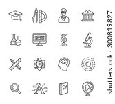 science thin line icons | Shutterstock .eps vector #300819827