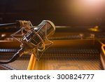 recording microphone above... | Shutterstock . vector #300824777