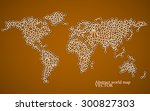 abstract world map. molecule... | Shutterstock .eps vector #300827303