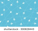 airplane routes. air travel.... | Shutterstock .eps vector #300828443