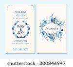 wedding invitation  thank you... | Shutterstock .eps vector #300846947